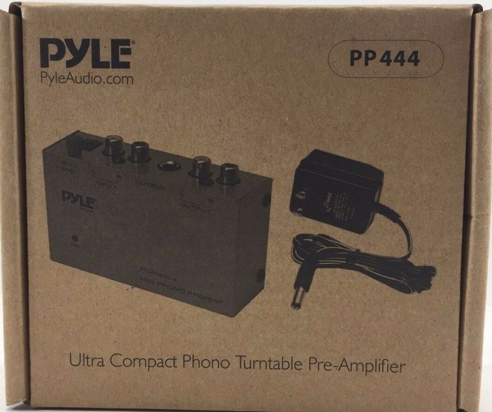 medium resolution of pyle pro pp444 ultra compact phono turntable pre amplifier for sale online ebay