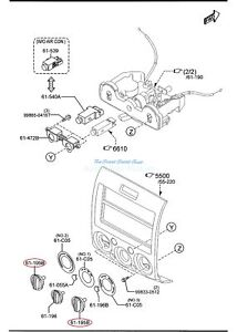 Mazda BT-50 UN 2008-2011 Genuine Temperature Direction