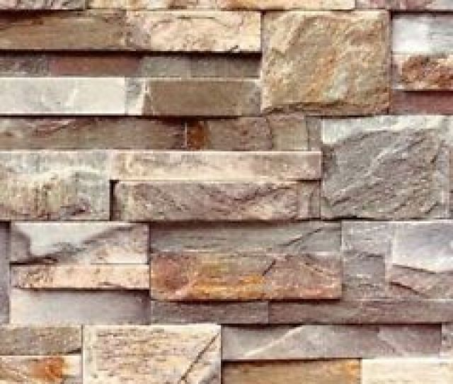Image Is Loading J Brown Grey Natural Brick Stone Textured D