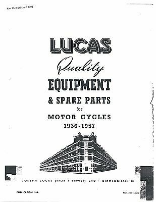 Lucas Parts Manual Book ARIEL 1944, 1945, 1946, 1947, 1948