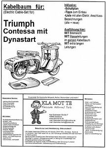 KA_TR_12 Kabelbaum Triumph Contessa Dynastart, wiring
