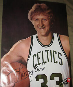 details about 1979 original 19x25in boston celtics larry bird basketball 7up poster mint