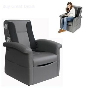 video game chair accent living room chairs x rocker gaming triple flip storage ottoman sound image is loading