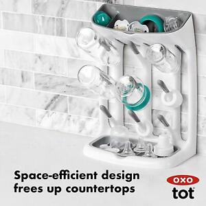 details about oxo tot space saving drying rack