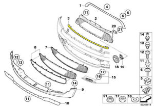 OEM Mini Cooper R56 R55 R57 R58 R59 Trim for Grill Front