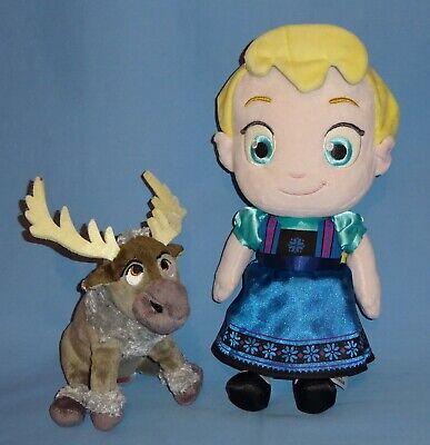 Disney Store Plush Toddler Elsa 12 Frozen Ty Sven Reindeer Baby Doll Lot 2 Ebay