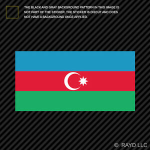 4 azerbaijani flag sticker
