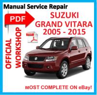# OFFICIAL WORKSHOP MANUAL service repair FOR SUZUKI GRAND ...