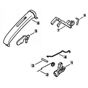 STIHL MS361 Handle Molding Throttle Trigger interlock Rod