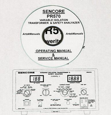 Sencore PR570, Isolation Transformer / Tester Operating