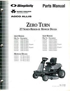 Simplicity Zero Turn ZT Series Riders 14 16 HP & Mower