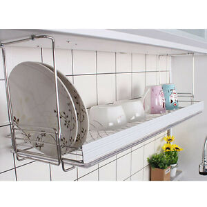 kitchen drying rack ice maker safety bar dish drainer dryer suspended shelf image is loading