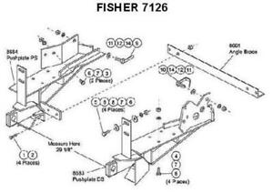 FISHER 7126 MOUNT KIT FOR MINUTE MOUNT SNOWPLOW 1992-1997