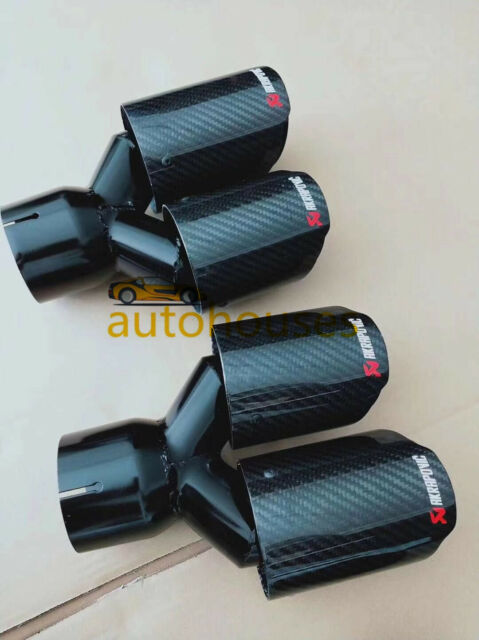 2 x akrapovic carbon fiber exhaust tip