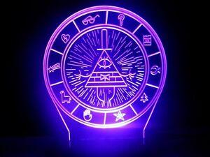 Wallpaper Pato Gravity Falls Gravity Falls Bill Cipher Wheel Lamp Led Night Light