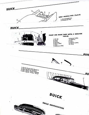 1954 1955 1956 1957 1958 BUICK BODY PARTS LIST FRAME