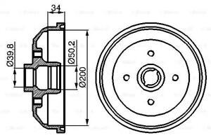 Brake Drum 200mm 84mm Fits CHEVROLET Corsa OPEL VAUXHALL