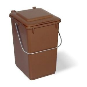 kitchen caddy commercial hood parts waste sorting compost bin 10 litre brown ebay image is loading