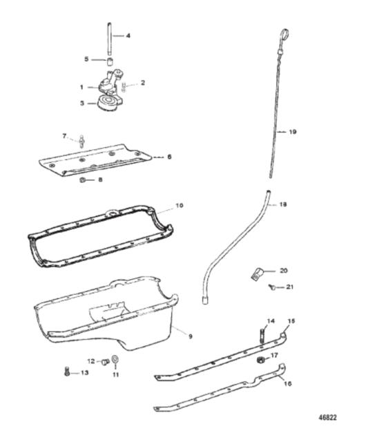 Mercruiser 5.0L, 5.7L, 6.2L Dipstick & Tube Kit. 15296A2