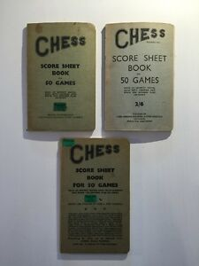 3 X Vintage Chess Score Sheets - 1963 - Leicester - SUVISTE, PRICE ...