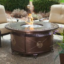 Fire Pit Table Burner Patio Deck Outdoor Fireplace Propane
