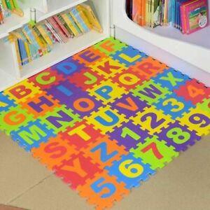 details sur marqueune puzzle tapis mousse bebe alphabet chiffres 86 pieces 36 dalles 15x15 c