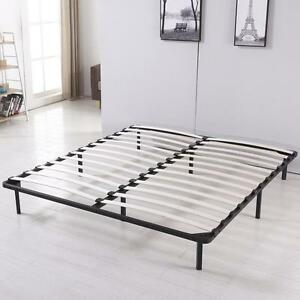 Image Is Loading King Size Modern Platform Wood Slats Metal Bed