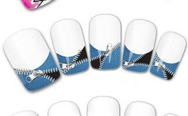 Water Transfer French Nail Art Tattoo Stickers Decals For