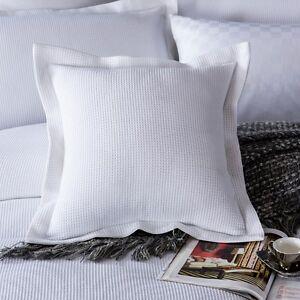 details about new 100 cotton luxury waffle european pillowcase cushion cover white 65x65 5cm