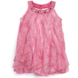 Biscotti Toddler Girls Party Dress Pink Size 2T Sleeveless Ruffle Dress NEW   eBay