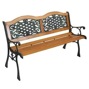 details about 50 patio furniture porch garden bench cast iron outdoor chair us