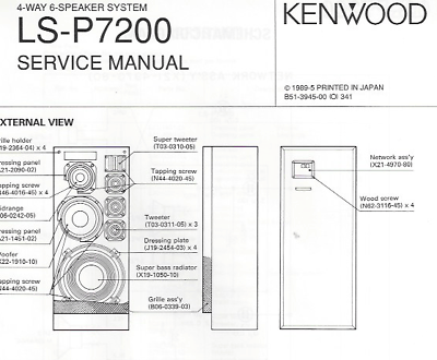 Kenwood Original Service Manual for LS-P 7200 English