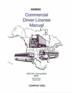 COMMERCIAL DRIVER MANUAL FOR CDL TRAINING (HAWAII) ON CD