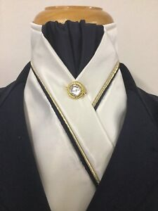 Dressage Stock Tie : dressage, stock, Cream, Satin, Dressage, Pre-tied, Stock