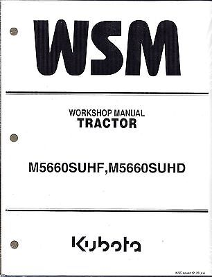 Kubota M5660SUHF, M5660SUHD Tractor Workshop Service