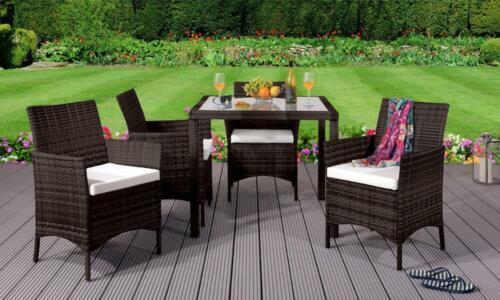 garden patio furniture sets 4 chairs square table 5pc rattan dining set outdoor garden patio furniture garden patio kochbuch kraeuterteeversand de
