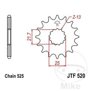 JT Front Sprocket 15T 525 Pitch JTF520.15 Suzuki SV 650 S