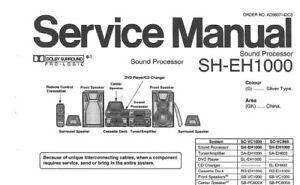 NATIONAL SH-EH1000 SOUND PROCESSOR SERVICE MANUAL INC