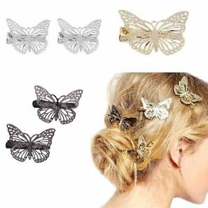 image is loading gold silver black butterfly hair clips hairpins wedding