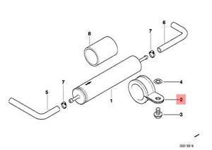 Genuine BMW E31 K14 R13 R131 Fuel Supply Strainer Bracket