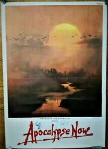 details about apocalypse now original movie poster signed by coppola and martin sheen