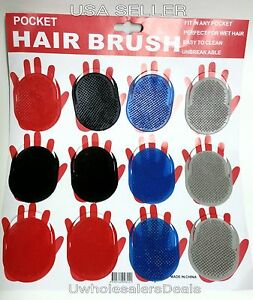 2 pocket hair brush b select your color new ebay