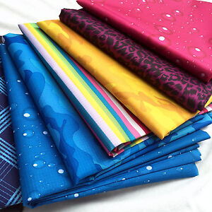Printed Waterproof Ripstop PU Coated Light Weight Fabric