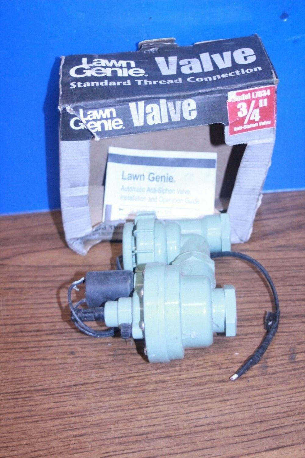 medium resolution of no1 lawn genie l7034 3 4in 150 psi anti siphon valve with flow control ebay