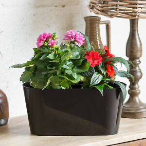 kitchen window box suites black oval outdoor garden plant pot cover planter herb trough image is loading