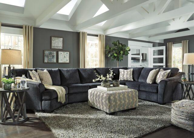 ashley furniture eltmann 3 piece sectional cuddler right or left facing 413034