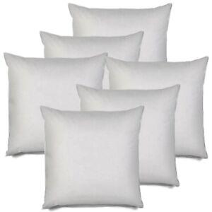 details about 18x18 pillow insert set of 6 decorative euro throw pillow insert sham cushion