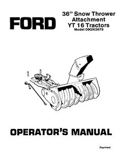 NEW HOLLAND Ford SE4438-A 36 YT16 Tractors 09GN3679