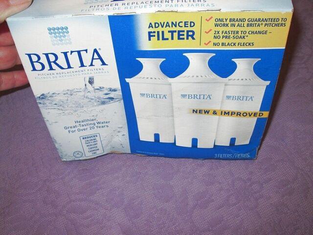 NEW 3 Pack BRITA ADVANCED No Flecks NEW & IMPROVED Pitcher ...