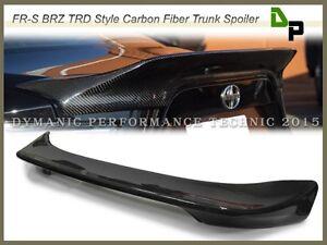 Trd Style Carbon Fiber Trunk Spoiler For 1215 Subaru Brz